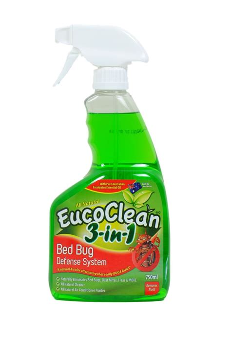 natural bed bug spray all natural eucoclean bed bug killer flea dust mite defense 750ml spray ebay