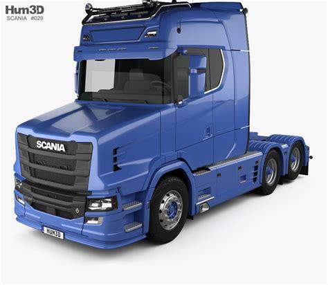 truck models scania s730 t tractor truck 2017 3d model hum3d