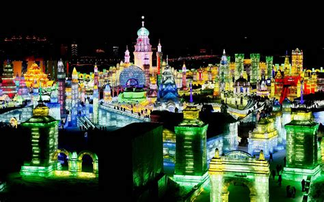 harbin ice festival harbin ice snow festival 2016 china winter travel ski