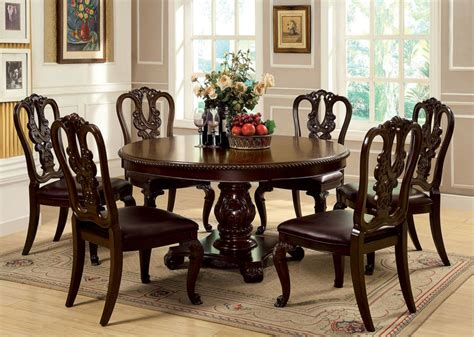 Round Formal Dining Room Table by Dallas Designer Furniture Bellagio Formal Dining Room