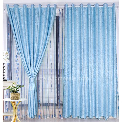Blaue Gardinen by Light Blue Curtain Html Myideasbedroom