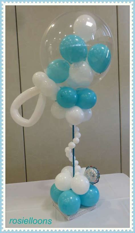 523 Best Baby And Wedding Showers Images On Pinterest Balloons Baby Shower Centerpieces