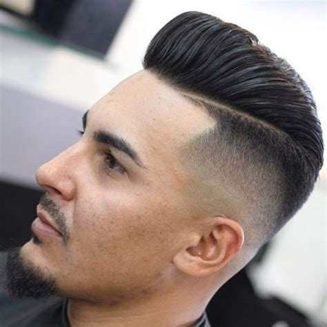mens haircuts jonesboro ar pompadour fade with line the hard part haircut mens