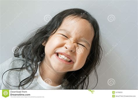 little girl mouth open little girl smiling with mouth wide open stock photo