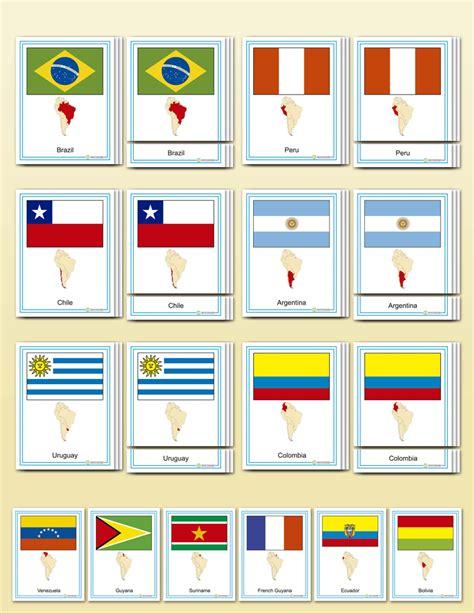 flags of the world montessori flags of south america montessori research development