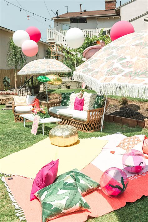 hawaiian backyard party ideas tropical lounge area from a tropical birthday party on