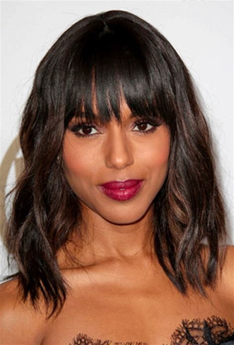 hairstyles medium length with bangs