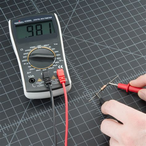 how to test a resistor with digital multimeter how to use a multimeter learn sparkfun