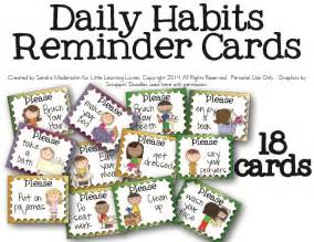free daily routine helper cards
