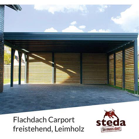 carport freistehend carport flachdach leimholz holz 6x7 m 600x700 cm