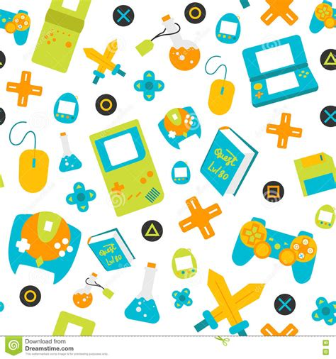 Gamis Pattern controller gamepads seamless pattern flat style