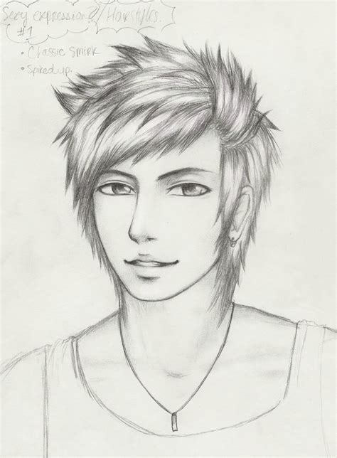 guy hairstyles drawing guy hairstyles spiky by a random pause on deviantart