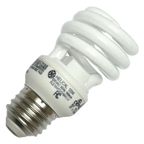Twist Light Bulb by Ge 72468 72468 Fle10ht2 6h Cwcd Twist Medium Base