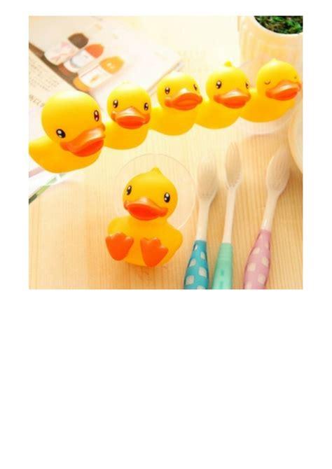 Sikat Gigi Bahan Silikon Zzfh pemegang sikat gigi karakter bebek
