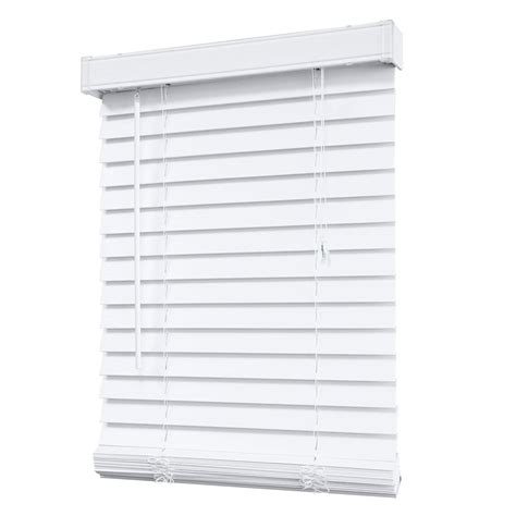 designview 2 inch faux wood blind white 24 inch x 48