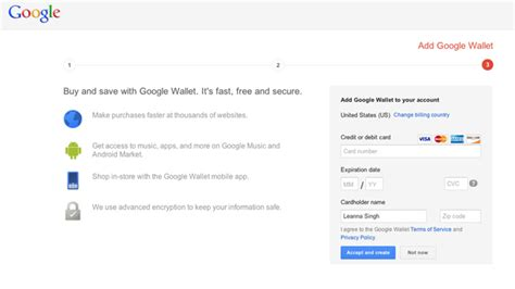 google sign up google wallet account requested when signing up for a new