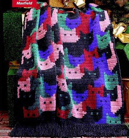 pattern for cat afghan afghans cats and crochet cats on pinterest