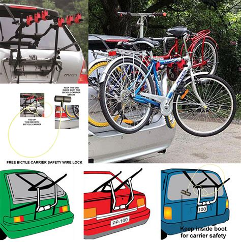 Bike Rack For Cars by Bicycle Carrier Car Rack Universal Fits Most Cars Rear Mount 2 3 Bike Free Lock