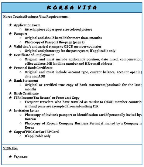 Guarantee Letter For Visa Korea visa assistance philippines regent travel ph