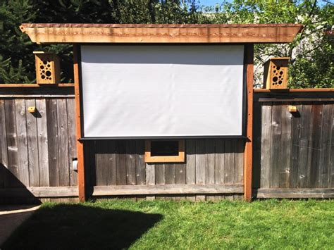 backyard theater screen creative juices decor awesome outdoor screen ideas