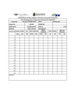 fire extinguisher monthly checklist report