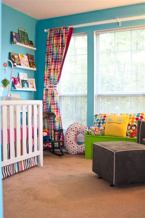 bright kids curtains rainbow nursery turquoise and bright colours on pinterest
