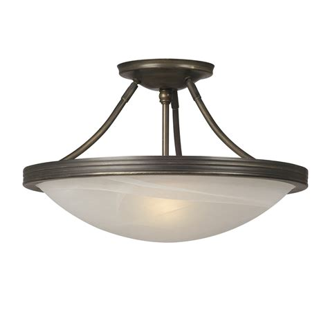 Lowes Ceiling Fixtures by Galaxy Lighting 660480 3 Light Julian Semi Flush Ceiling
