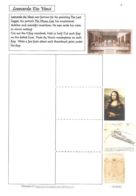 famous artist biography worksheet famous artists practical pages