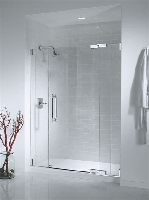 seamless glass shower doors bathroom