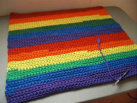 Debs Crochet My Crochet Today New Towels A Rainbow Rug Rainbow Rug