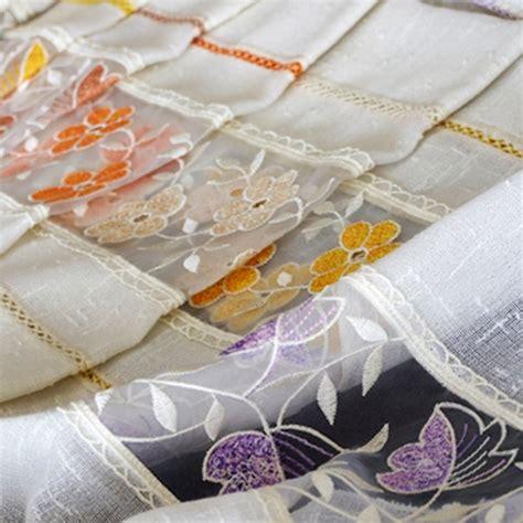 tende a vetro ricamate tendine a vetro ricamate ispirazione interior design