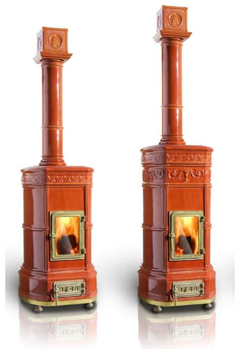 Decorative wood stoves by La Castellamonte with romantic