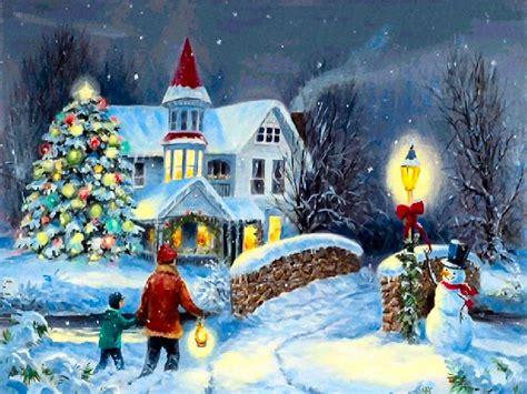 christmas tree full  snowfall wallpapers wallpaper hd  uploaded  kalpna keer