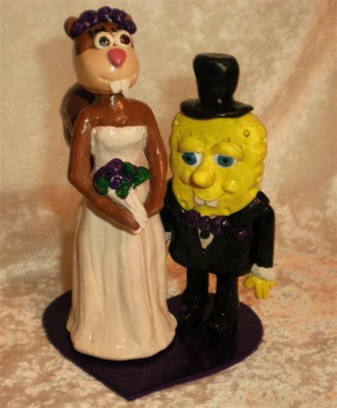 spongebob and custom wedding cake topper by proudpixie 75 00 spongebob