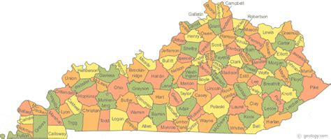 physical map of kentucky map of kentucky