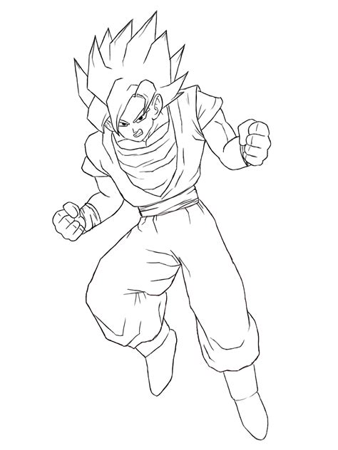Drawing Goku by Free Coloring Pages Of Trunks Small
