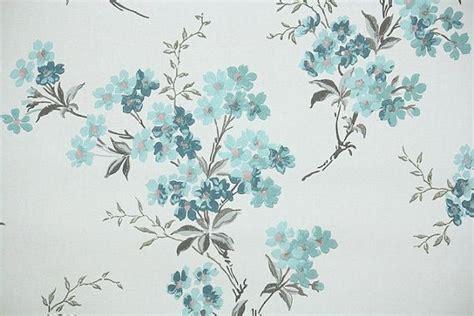 wallpaper pattern vintage blue 1940s vintage wallpaper by the yard floral wallpaper