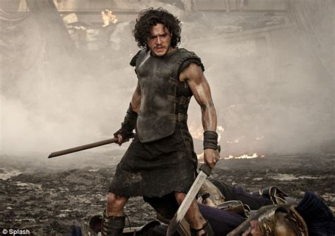 new film like gladiator kit harington hides his gladiator physique under a suit as