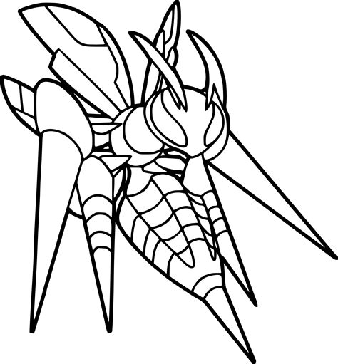 pokemon coloring pages beedrill pokemon mega beedrill coloring page