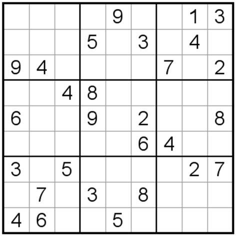 printable intermediate sudoku puzzles sudoku puzzles intermediate 89 92 number squares