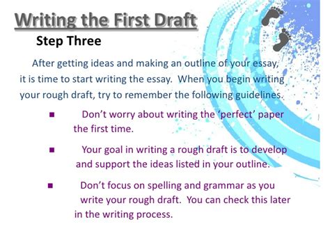 How To Make A Draft For An Essay by Writing Process Ppt And Assignment