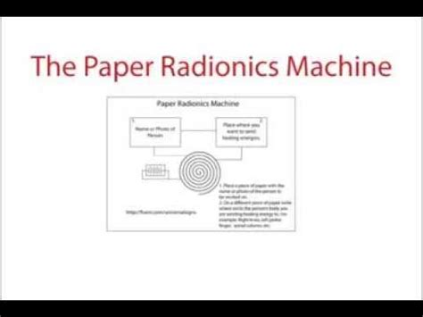 The Machine Stops Essay by Real Working Paper Radionics Machine
