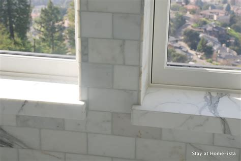 Window Sill Tiles Remodelaholic Marble Master Bathroom Come True