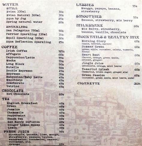Menu Di Spatula Kitchen Bali menu la favela seminyak bali best restaurants cafe in bali guide bali