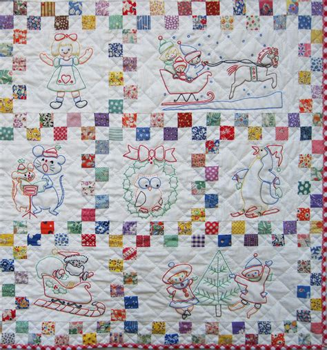 Embroidery On Quilts by Santa S Follow The Colors Embroidered Quilt Finished Q