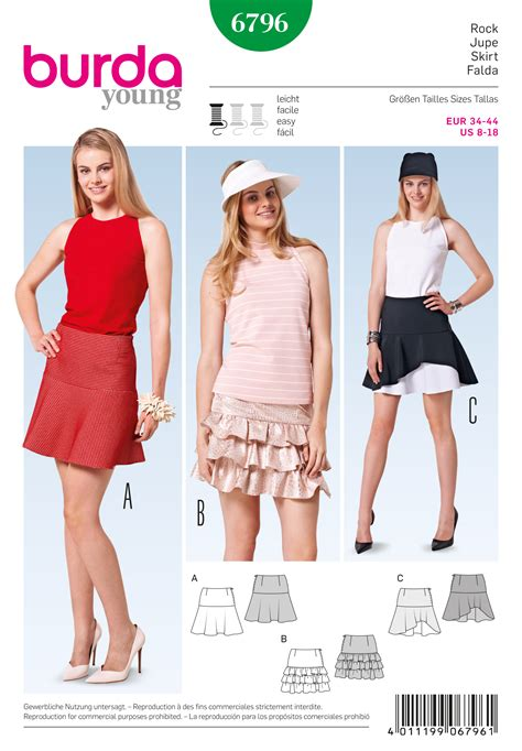 pattern review best of 2015 burda 6796 burda style skirts