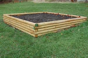 Landscape Timber Raised Garden Bed At Walnut Grove