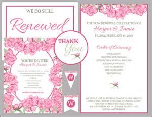 vow renewal ceremony program vow renewal wedding invitation wording wedding invitation sle