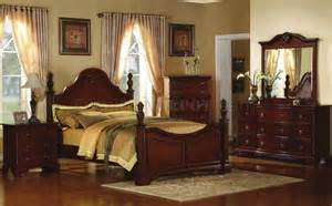 traditional cherry bedroom furniture royal cherry finish traditional 5pc bedroom set w bed