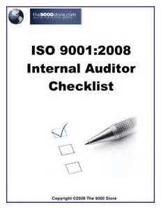 Iso 9001 Checklist Template by Iso 9001 Audit Checklist